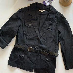 Black belted jacket Blazer